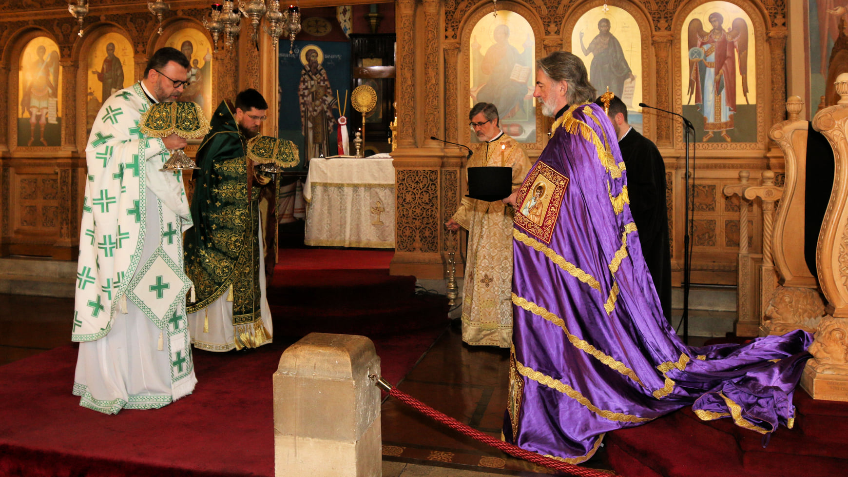 Visit of His Eminence the Archbishop